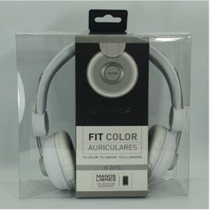 AURICULAR NOGA FIT COLOR X2670 M/LIBRES BLANCO