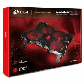 4 Cooler Noganet Base Noga Gamer Ng-cool30 Led Usb Hasta 17